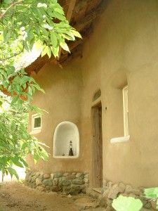 The entrance to the Strawbale Studio