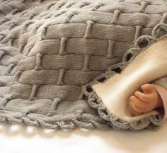 Hand Knit Sensory Weighted Baby Blanket  by CashmereSolution, $175.00