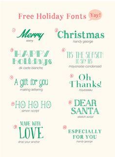 Free Holiday Fonts