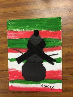 Snowman shadow paint art grade 2