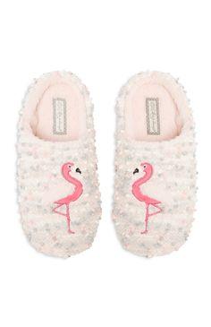 Primark - Cream Flamingo Slipper