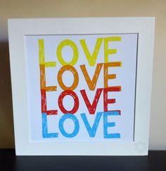 Quadro LoveS - 15x15 - moldura branca