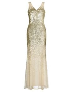 John Lewis Jessica Sequined Maxi Dress, John Lewis