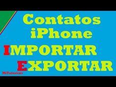 Como importar exportar contatos do iphone novo 2013 Se por um acaso você quiser mudar de iPhone ou até mesmo fazer um backup de segurança dos contatos do seu iPhone, a seguir uma forma simples para importar /exportar contatos do seu iPhone.