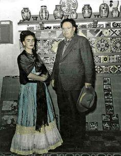 Frida y Diego, por Leo Matiz