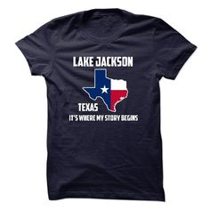 Lake Jackson texas It's Where My Story Begins T-Shirts, Hoodies. ADD TO CART ==► https://www.sunfrog.com/States/Lake-Jackson-texas-Its-Where-My-Story-Begins-Special-Tees-2014--.html?id=41382