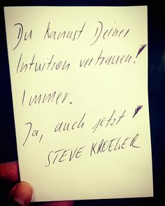 #Intuition #motivation #zitate #quotes #stevekroeger #coaching