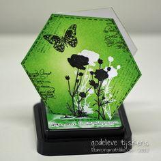 StampingMathilda: Hexagon Mini Card