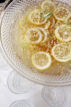 Seattle Supper Club - whiskey punch with lemon and elderflower