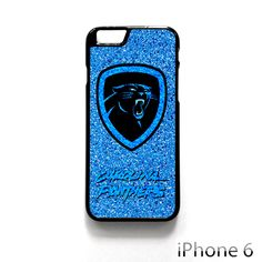 91403d7ed4be Carolina Panthers NFL Logo Glitter For Iphone 4 4S Iphone 5 5S 5C