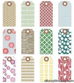 Printable tags craft ideas pinterest free christmas printables gift tags allonsykimberly negle Choice Image