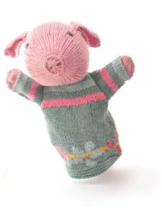 ChunkiChilli Organic Cotton Pig Hand Puppet
