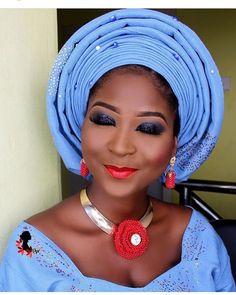 Smokey  #asoebispecial #asoebi #speciallovers #makeup #wedding  Beads @ordawyse_jewels  Asooke @mimibridals Glam @uniquefacesbyoye