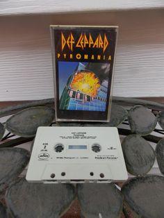 Vintage 1983 Dep Leppard Pyromania Cassette by PfantasticPfindsToo, $5.99