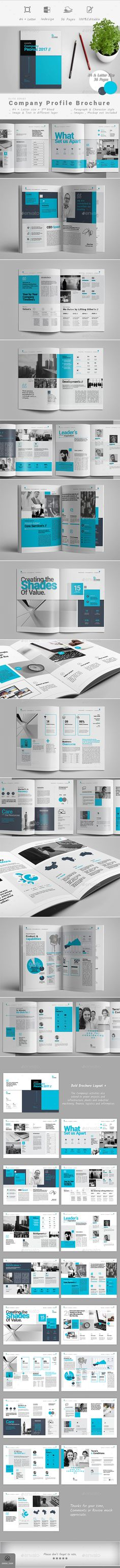 clean company profile brochure template indesign indd download