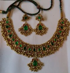 22 k gold polkee diamond kundan meena set  39235 by TRIBALEXPORT, $9900.00