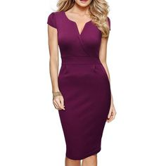online shopping for Miusol Women's Classicial V Neck Retro Business Bodycon Pencil Dress from top store. See new offer for Miusol Women's Classicial V Neck Retro Business Bodycon Pencil Dress Dresses Elegant, Casual Dresses, Dresses For Work, Formal Dresses, Workwear Dresses, Office Dresses, Club Dresses, Cheap Dresses, Formal Wear