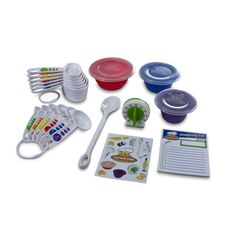 17 Piece Measure and Prep Childrens Kitchen Set from Curious Chef