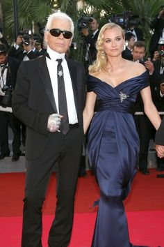 Diane Kruger With Karl Lagerfeld At The Cannes Film Festival 2007
