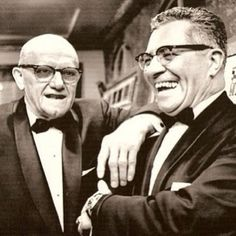 Super (Fashionable) Bowl Coaches; Vince Lombardi(Pictured w/ George Halas), Super Bowls I & II, Green Bay Packers... @alexandernashnyc