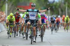 Twitter / ItsCycling: #TourSanLuis Beautiful picture of first season win for Mark for new team