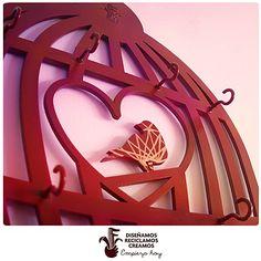 Portallaves perchero Jaula / Birdcage jewelryholder-keyholder