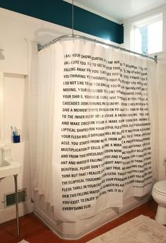 A literary shower curtain. | 22 Things That Belong In Every Bookworm's Dream Home
