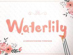 Free Waterlily Font