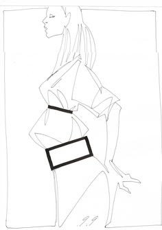 Fashion illustration // Acne S/S 2014 by Piet Paris