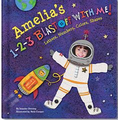 1-2-3 Blast Off With Me Personalized Board Book :: For That Occasion