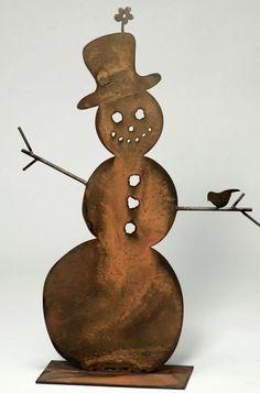 Metal snowman