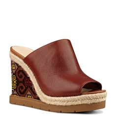 VIP Wedge Sandal   Embroidery   Spring Trends   Spring Fashion   Must Have Trends   Nine West