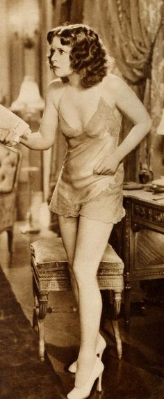 """Clara Bow - In vintage """"unmentionables"""" - From """"Call Her Savage"""""""