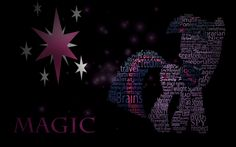 #mlp #my little pony #typography Magical Typography by ~ShadesofEverfree on deviantART.  Wow! All the words that represent Twilight Sparkle is what makes her.  That's so awesome!