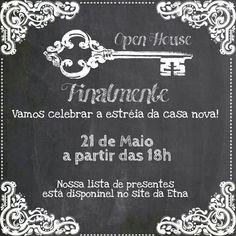 Convite Open House feito no app PicArt
