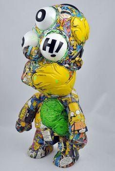 Homer Simpson goes Halloween | Qee by VISEone , via Behance