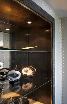 Detail at Bar Cabinet, Intercontinental Hotel Park Lane, London