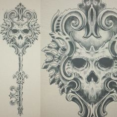 Finished and ready to tattoo! Finished and ready to tattoo! Lock Key Tattoos, Lock Tattoo, I Tattoo, Key Tattoo Designs, Couples Tattoo Designs, Chris Garver, Filagree Tattoo, Key Drawings, Graffiti Drawing
