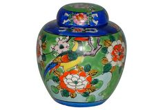 Hand-Painted Japanese Ceramic Jar on OneKingsLane.com
