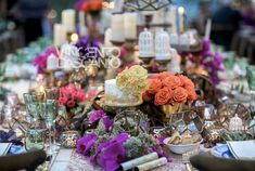 Rustic decoration with colorful flower arrangement for centerpiece Rustic Style, Rustic Decor, Hanging Tea Lights, Pink Tablecloth, Modern Lanterns, Centerpieces, Table Decorations, Italy Wedding, Garden Wedding