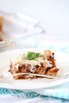 Pastitsio - Greek Pasta and Beef Casserole, Low Calorie, Low Fat Healthy Dinner Recipe