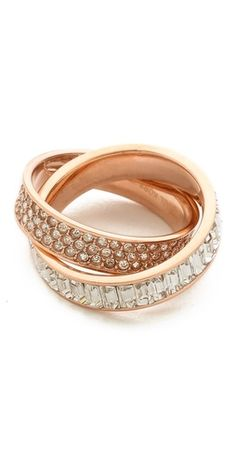 Michael Kors Pave Intertwined Baguette Ring   SHOPBOP   Use Code: INTHEFAMILY25 for 25% Off