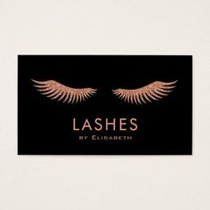 Shop faux rose gold eyelashes business card created by lucykitty. Beauty Business Cards, Salon Business Cards, Makeup Artist Business Cards, Lashes Logo, Rose Gold Hair, Gold Gifts, Office Gifts, Eyelashes, Makeup Artists