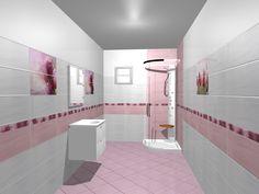 Vrei sa vezi cum va arata baia sau bucataria ta inainte de a incepe renovarea? Ce culori si forme de gresie si de faianta se potrivesc cel mai bine? Atunci, vino la Castilio si foloseste serviciul GRATUIT de Proiectare 3D pentru Bai si Bucatarii! Model de design pentru baie cu gresie si faianta si decoruri din colectia Arco Lila