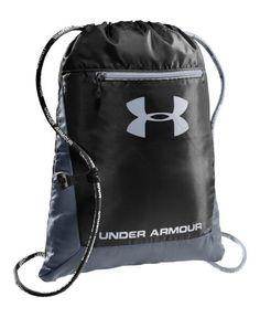 Under Armour Hustle Sackpack Sport Bag - UA Black Padded Backpack 1239375 3383eff6f9b2c