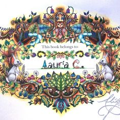 Johanna Basford | Colouring Gallery Fabercastell watercolour pencils + staedtler triplus fineliner