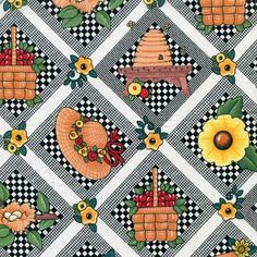 New - Gardening  - Mary Engelbreit - Half Yard by BywaterFabric on Etsy