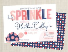 Baby Sprinkle Invitation by CalleyFlower on Etsy, $15.00 Baby Sprinkle Invitations, Sprinkles, Birthday Parties, Party, Etsy, Anniversary Parties, Birthday Celebrations, Parties, Birthdays