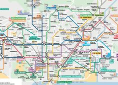 Here is the metro map of Barcelona that will help you to find your ways easily: Barcelona Tourist, Barcelona Guide, Moving To Barcelona, Barcelona Hotels, Barcelona City, Barcelona Spain, Camp Nou, Gaudi, Cancun Mexico Resorts