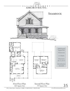 This plan is Heated Square Feet, 3 Bedrooms and 2 Bathrooms. The master bedroom is on the main floor. The dimensions are x Tiny House Cabin, Dream House Plans, Small House Plans, House Floor Plans, Ramsey House, Vintage House Plans, Architect House, Cabin Plans, Building Plans